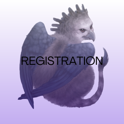 Image of harpy eagle griffon. Text says: Registration